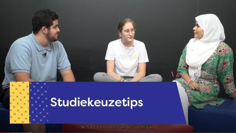 YouTube video - Kijk mee naar de ervaringen van onze studenten tijdens hun studiekeuzetraject!